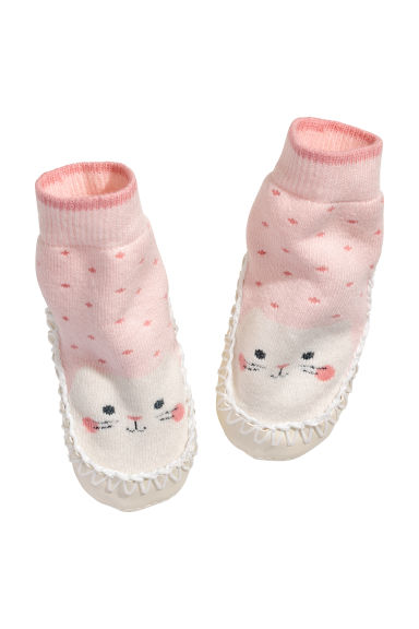 莫卡辛鞋 - Light pink/Cat - Kids | H&M 1