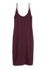 Ribbed jersey dress - Plum - Ladies | H&M 2