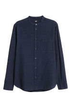 Grandad shirt Regular fit - Dark blue - Men | H&M 2