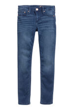 Skinny fit Satin Jeans - Dark denim blue -  | H&M CA 2