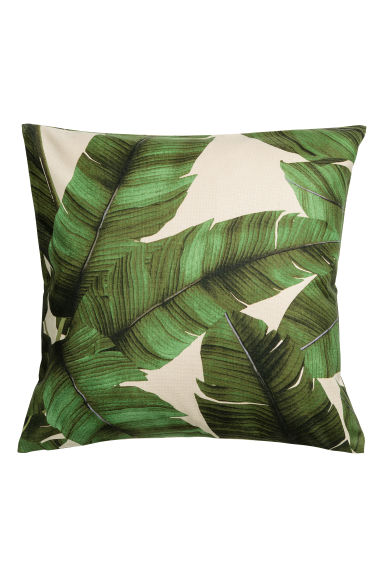 Print motif cushion cover - Natural white/Leaf - Home All | H&M CN