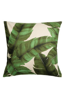 Print motif cushion cover