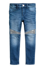 Skinny Fit Biker Jeans - Denimblauw - KINDEREN | H&M BE 2