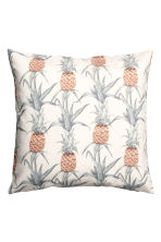 Kussenhoes met dessin - Wit/ananas - HOME | H&M BE 1