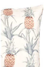 Kussenhoes met dessin - Wit/ananas - HOME | H&M BE 2