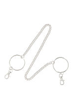 Key chain with rings - Silver-coloured - Ladies | H&M 1