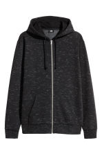 Hooded jacket Regular fit - Black marl - Men | H&M 2