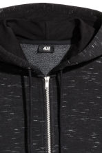 Hooded jacket Regular fit - Black marl - Men | H&M 3