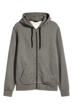 Hooded jacket Regular fit - Khaki marl - Men | H&M 2