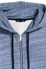 Hooded jacket Regular fit - Blue marl - Men | H&M 3