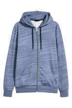 Hooded jacket Regular fit - Blue marl - Men | H&M 2