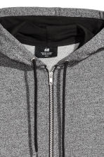 Hooded jacket Regular fit - Grey marl/Black - Men | H&M 3