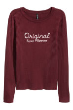 Top in maglia a coste - Bordeaux - DONNA | H&M IT 2