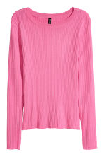 Ribbed Top - Pink -  | H&M CA 2