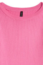 Ribbed Top - Pink -  | H&M CA 3