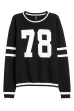 Fine-knit jumper - Black -  | H&M 2