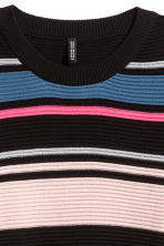 Ribbed jumper - Pink/Black striped - Ladies | H&M CN 3
