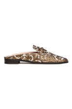 Slip-on loafers - Gold/Patterned -  | H&M 2