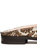 Slip-on loafers - Gold/Patterned -  | H&M 5