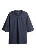 Wide cotton T-shirt - Dark blue - Men | H&M 2