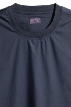Wide cotton T-shirt - Dark blue - Men | H&M 4