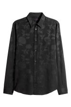 Jacquard-weave shirt - Black - Men | H&M 2