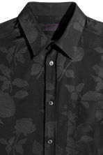 Jacquard-weave shirt - Black - Men | H&M 3