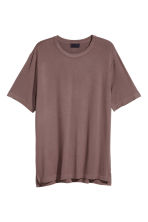 Modal jersey T-shirt - Dark mole - Men | H&M CN 2