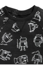 Printed sweatshirt - Black/Robot - Kids | H&M CN 2