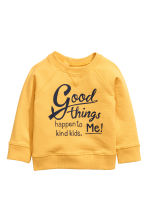 Sweatshirt with Printed Design - Yellow - Kids | H&M CA 1