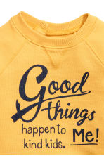 Sweatshirt with Printed Design - Yellow - Kids | H&M CA 2