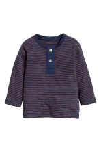 Henley Shirt - Dark blue -  | H&M CA 1