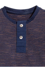 Henley Shirt - Dark blue -  | H&M CA 2