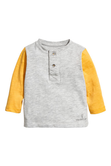 Henley shirt - Yellow - Kids | H&M CN