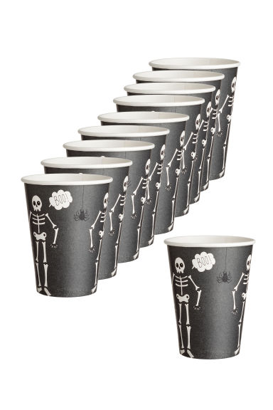 10-pack paper cups - Dark grey - Home All | H&M IE 1