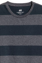 Round-neck T-shirt Regular fit - Dark blue/Striped - Men | H&M CA 3