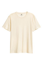 Round-neck T-shirt Regular fit - Light beige - Men | H&M CN 2