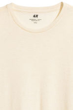 Round-neck T-shirt Regular fit - Light beige - Men | H&M CN 3