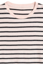 Round-neck T-shirt Regular fit - Light beige/Striped - Men | H&M CA 3