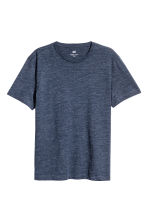 Round-neck T-shirt Regular fit - Dark blue marl - Men | H&M 2