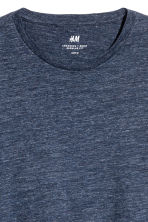 T-shirt Regular fit - Bleu foncé chiné - HOMME | H&M BE 3