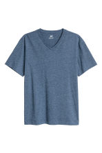 T-shirt scollo a V Regular fit - Blu mélange - UOMO | H&M IT 2