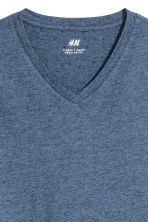 T-shirt scollo a V Regular fit - Blu mélange - UOMO | H&M IT 3