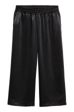 Satin culottes - Black - Ladies | H&M 2