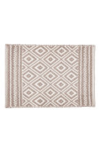 Jacquardgeweven badmat - Wit/Taupe - HOME | H&M BE 2