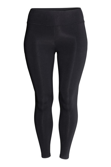 H&M+ Shaping sports tights - Black - Ladies | H&M