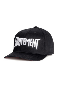 Embroidered cotton cap