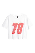 Cropped T-shirt - White - Ladies | H&M CN 2