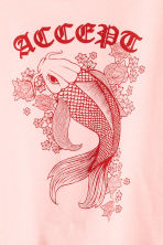 Cropped T-shirt - Light pink/Fish - Ladies | H&M CN 3