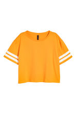 Cropped T-shirt - Orange - Ladies | H&M CA 2